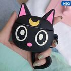 Cartoon Cool Penguin Black Cat Airdpods Case Cover Skin Shockproof Protect Shell