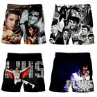 Summer men's beach shorts Singer Elvis Presley 3D printed fashion fitness pants