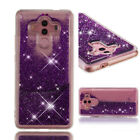 Hot Bling Liquid Glitter Quicksand TPU Back Cover Case For Huawei Mobile Phones
