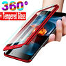 For Xiaomi Mi 9T 9 8 Note 3 F1 A1 A2 Lite Full Cover 360° Case + Tempered Galass