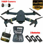 Eachine E58 RC Drone 1080P Camera FPV WIFI Foldable Quadcopter 3 Batteries + Bag