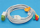 ge 11 pins direct ecg cable snap compatible marquette dinamap 3 leads 5 leads