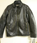 Rainforest RFT Mens Brown Slim-Fit Viscose/PU Leather Jacket