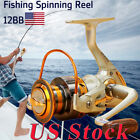 US Interchangeable 12BB Ball Bearing Saltwater/ Freshwater Fishing Spinning Reel $8.99 USD on eBay