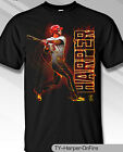 Philadelphia Phillies MLBPA #3 Bryce Harper ON FIRE Men's S/S Tee Shirt Black on Ebay