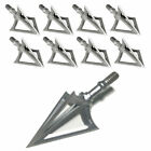 Lot Hunting Broadheads 100 Grain Stainless Steel 3-Blade Integral Forming Tips