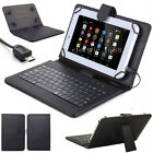 "US For Universal 7-7.9"" Tablet Leather Stand Case Cover W/Micro USB Keyboard HOT"