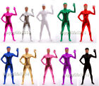 NEW Spandex Zentai Party Costume Shiny Metallic Open Face Bodysuit Catsuit