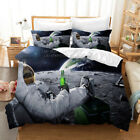 3D Modern Spaceman Beer Quilt Cover Duvet Cover Comforter Cover Pillow Case 75