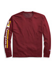 New Authentic Champion Men Jersey Long Sleeves T-Shirt Vertical Logo GT78H