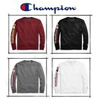 New Authentic Champion Men Jersey Long Sleeves T-Shirt Vertical Logo GT78H image