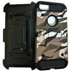 Urban Camo Military Rugged Holster Case For iPhone 5/6/7/8 XS XR Glass Protector
