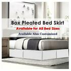 Soft Dust Ruffle Bed Skirt With Pleated Microfiber/Polyester Full Size image