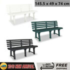 Garden Bench Seat Chair Outdoor Plastic 145.5x49x74 cm Patio Yard Seat