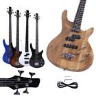 new 34 basswood school student right handed 4 strings electric guitar bass