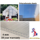 4mm Clear Polycarbonate Roofing Sheets Greenhouse 2ftW x 4ftL - 61cmW x 122cmL
