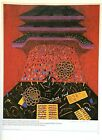 "VTG 1987 Art Print Repro David Hockney Opera Advertisement Poster 10.5"" x 14"""