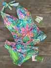 Lily Pulitzer BLISS TANKINI TOP or LAGOON SARONG BIKINI BOTTOM BENNET NEW W/TAGS