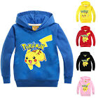 Kids Pokemon Go Pikachu Jumper Hoodies Boys Girls Pullover T Shirts Tops Clothes