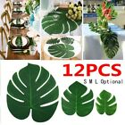 12pcs Artificial Palm Leaves Hawaiian Theme Party Tablecloth Decoration Supply