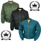Relco Classic MA-1 Flight Jacket Bomber Pilot Military Army Olive Black