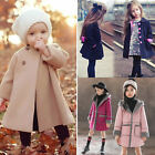 Kids Baby Girls Long Trench Coat Fleece Hoodies Jacket Winter Warm Parka Outwear