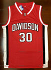 Retro #30 Stephen Curry Davidson Men's Basketball Jersey Red Stitched