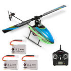 WLtoys V911S Non-aileron 2.4G 4CH 6G RC Helicopter Airplane w/ 3 Batteries E2S9