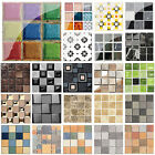 Waterproof Tiles Mosaic PVC Wall Sticker  Kitchen Bathroom Adhesive Home Decor $6.09 USD on eBay