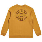 Brixton NEW Men's Oath Crew Fleece - Maize BNWT