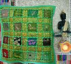New Indian Art Pure Cotton Kantha Bed Pillow Cushion Cover Decor Art Sofa Throw.