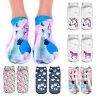 Femme 3D Unicorn Print Socks Chaussettes Homme Low Cut Cotton polyester Mode