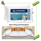 2 Pack Cool Slumber Gel Pillows Comfortable Bed Cooling Pillow Hypoallergenic image