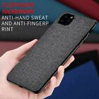 For iPhone 11 Pro Max Luxury Fabric Canvas Cloth Leather Soft Bumper Case Cover