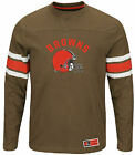 Cleveland Browns Adult Brown Power Hit 2 Long Sleeve T Shirt $29.99 USD on eBay