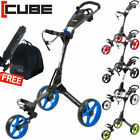 Cube 3 Wheeled Golf Trolley Ultralight One Click Technology (5 Colours) B/N