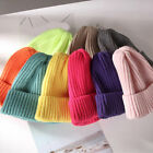 Unisex Solid Color Knitted Pointy Hat Winter Warm Baggy Casual Beanie Ski Cap
