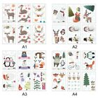 Cartoon Christmas Wall Stickers Door Stickers Wall Sticker Decal Self Adhesive