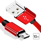 Micro USB Fast Charger Data Sync Cable Braided Cord For Samsung Android 3 6 10FT
