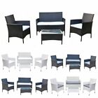 4 Piece Rattan Patio Garden Furniture Set Table Chair Sofa Conservatory Outdoor