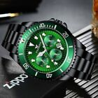 FNGEEN Mens Watch Stainless Steel Luminous luxury Bezel Analog Date Watches image