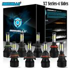 4-Side 9004/9005/9006/9007/H4/H7/H11/H13/H16/H10/9145 LED Headlight Fog Bulb Kit $40.99 USD on eBay