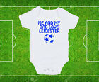Leicester Me & My Dad Love City Toddler Baby T-Shirt Baby Grow Lätzchen