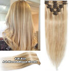 CLEARANCE Clip In 100% Real Remy Human Hair Extensions Full Head Highlight US Ss