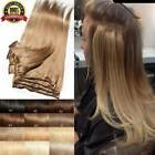 Kyпить CLEARANCE Clip In 100% Real Remy Human Hair Extensions Full Head Highlight US Ss на еВаy.соm