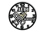 Audi Service Wall Clock Gift Silent Non-Ticking Ply Wood Black White 143