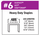 "Heavy Duty Wide Crown Staples | 1/4"" 5/16"" 3/8"" 1/2"" 9/16"""