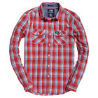 Superdry NEW Men's Washbasket Shirt - Washed Red Check BNWT
