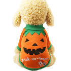 FA- Pet Puppy Dog Halloween Pumpkin Witch T-shirt Soft Clothes Costume Jacket So