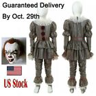 Kids It Chapter Two 2 Pennywise Clown Cosplay Costume Halloween Boys Girls Child